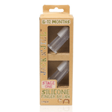 Silicone Finger Brush 2pk - Stage One (6-12 months)