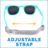 Kids Polarised Unbreakable Sunglasses - Sky Blue