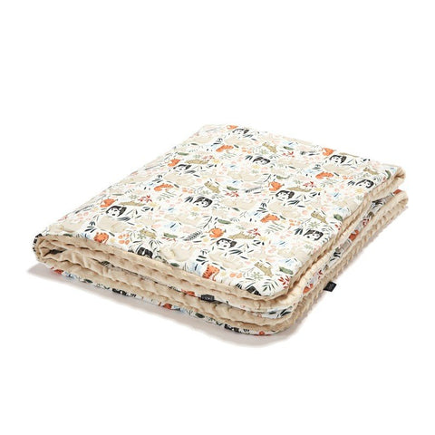 Light Toddler Blanket - Large - La Millou Zoo | Latte