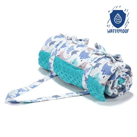 Waterproof Picnic Blanket - Mantra Ray | Teal
