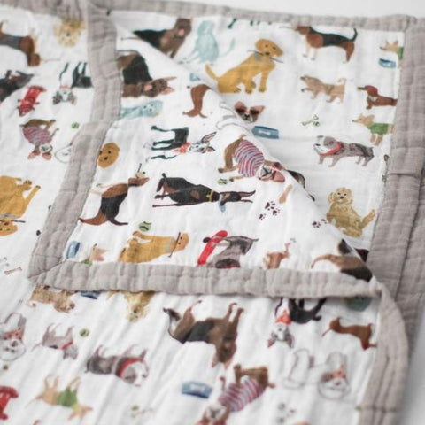 Little Unicorn Big Kid Cotton Muslin Quilt - Woof