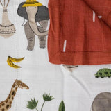 Little Unicorn Deluxe Muslin Quilt - Safari Social