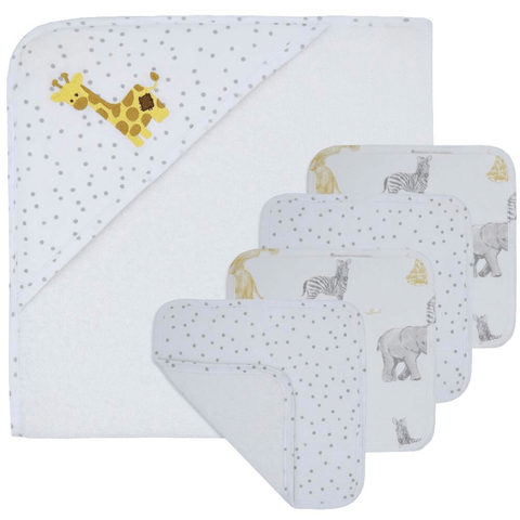 Pitter Patter Giraffe - 5pc Bath Gift Set