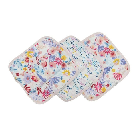 Washcloth 3-pieces Set - Light Field Flowers