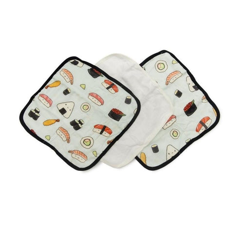 Washcloth 3-pieces Set - Sushi