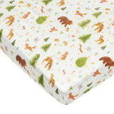 Muslin Fitted Cot Sheet - Forest Friends