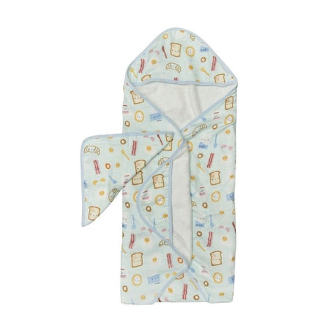Muslin Hooded Baby Towel Set - Breakfast Blue