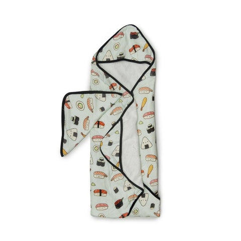 Muslin Hooded Baby Towel Set - Sushi