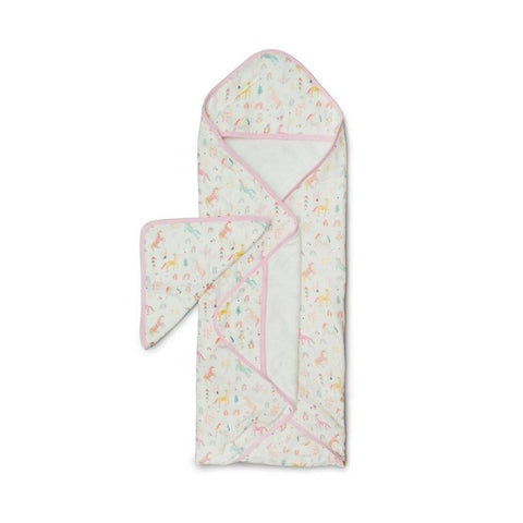 Muslin Hooded Baby Towel Set - Unicorn Dream