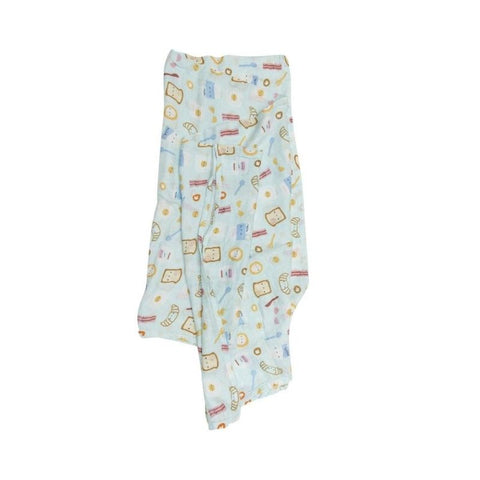 Muslin Swaddle - Breakfast Blue