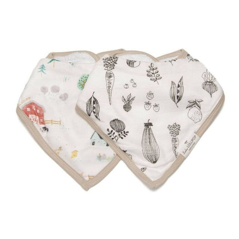 Muslin Bandana Drool Bib Set - Farm Animals