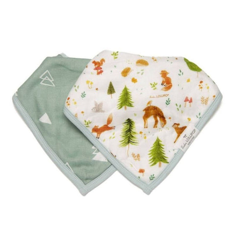 Muslin Bandana Drool Bib Set - Forest Friends