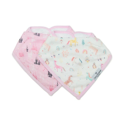 Muslin Bandana Drool Bib Set - Unicorn Dream