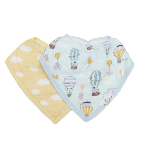 Muslin Bandana Drool Bib Set - Up Up Away