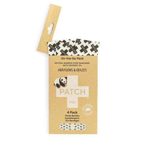 PATCH Coconut Oil Kids Bandages 'On-The-Go' - 4 pack