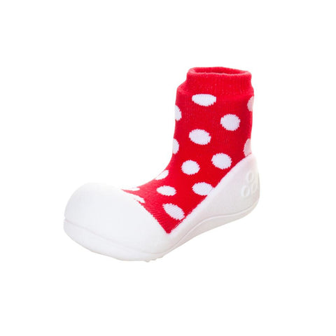Attipas Baby Toddler Shoes Polka Dot Red