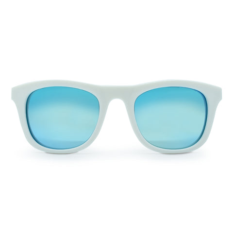 Kids Polarised Unbreakable Sunglasses - White Aurora
