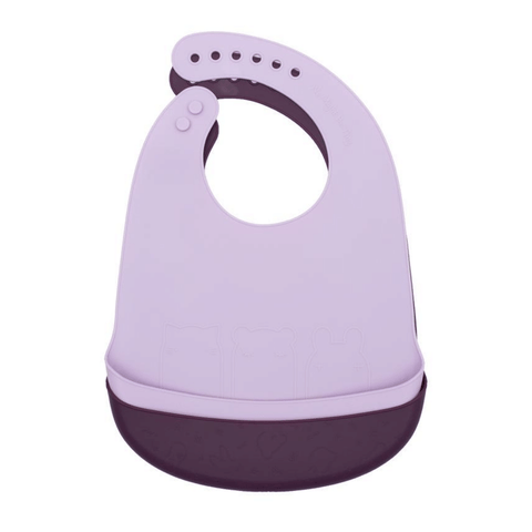 Catchie Silicone Bibs, Set of 2 - Plum + Lilac