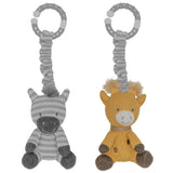 Savanna Babies Stroller Toys - Giraffe And Zebra