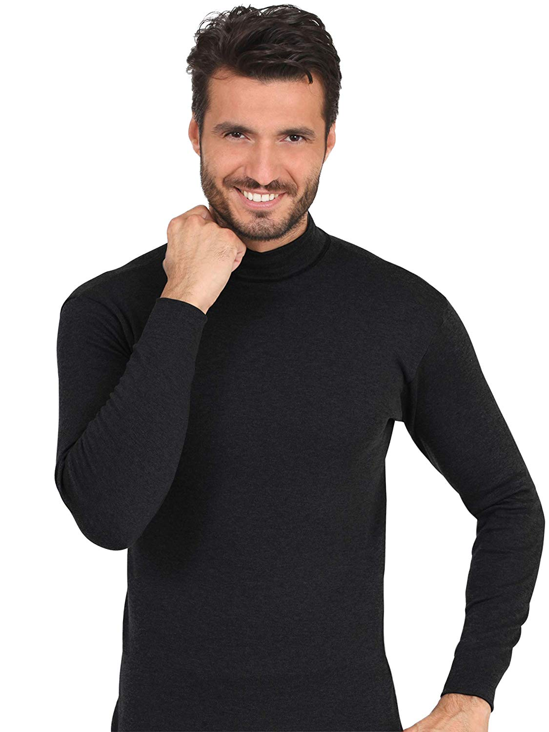 MaRe Premium Quality 100/% Brushed Cotton//Fleece Mens Long Sleeved T-Shirt Proudly Made in Italy.