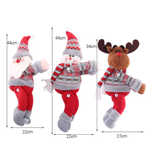 Christmas window scene layout cartoon doll buckle