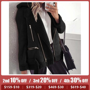 Women's Fashion Casual Teddy Jacket