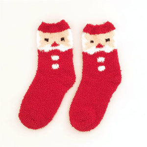 Women's creative coral velvet christmas socks