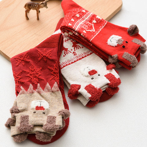 Women's fashion Christmas elk in stockings