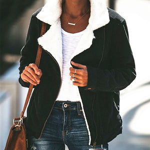Fashion Casual Wide Lapel Thicken Warm Woolen Baseball Coat Jacket