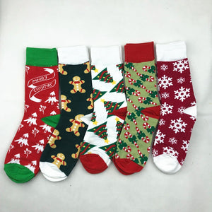 Christmas series warm print socks