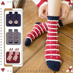 Christmas series lace print socks