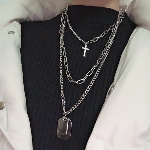 Retro Street Style Hip Hop Clavicle Necklace