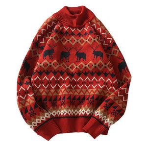 Casual Christmas pattern men's sweater