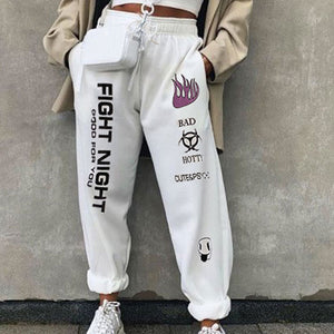 Monochromatic Patchwork Printed Casual Trousers