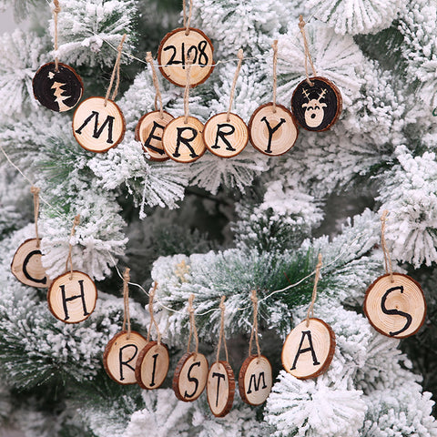 Christmas DIY Painting Board Christmas Tree Decoration Wood Chips