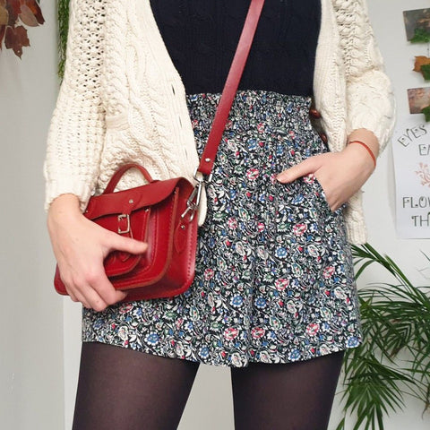 Girl's Fashion Elegant Floral Printed Short Skirt