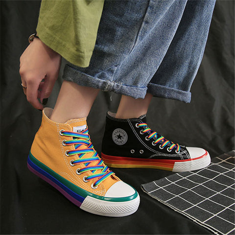 Casual Chromatic Lace-Up Shoes