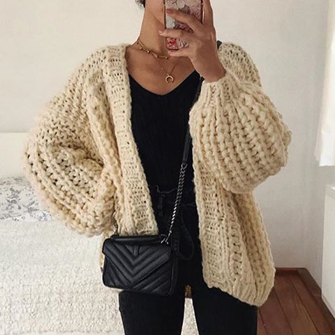 Brief Pure Color Long Sleeve Sweater