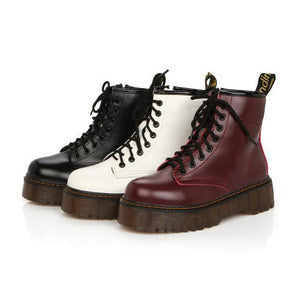 Women's fashion solid color platform Martin boots