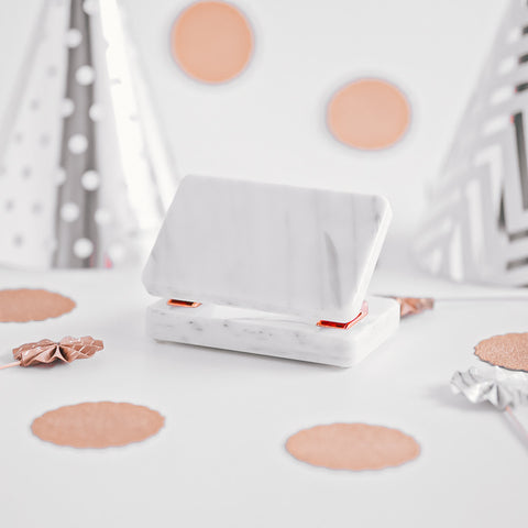 Marble Rose Gold Hole Puncher