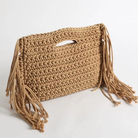 Tassel Knitted Tote