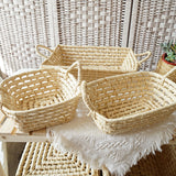 Cornleaf Rectangle Basket (L)