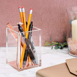 Acrylic Rosegold Pen/Brush Holder