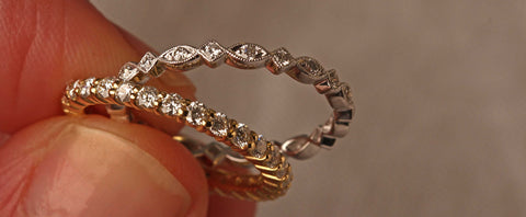 explore eternity rings and diamond wedding bands at ethical EC One
