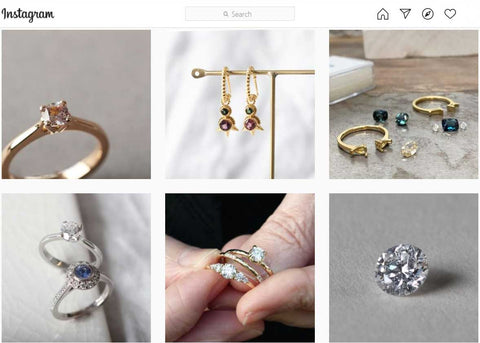 Explore EC One's Instagram of sustainable and ethical engagement rings made in London