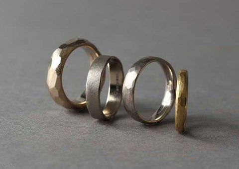 Ethical recycled gold wedding rings by EC One London