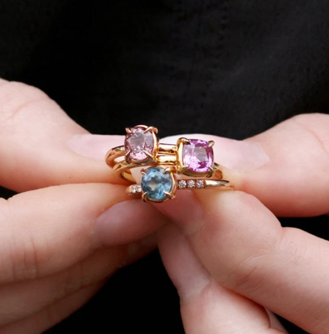 EC One ethical engagement rings with Madagascan Sapphires