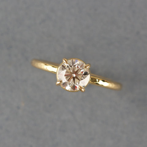 Bespoke conflict free diamond ethical engagement ring by EC One