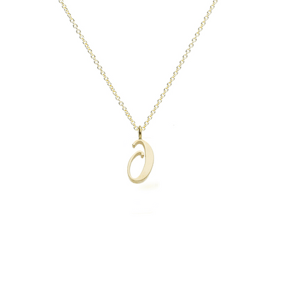 "EC One recycled Gold number ""0"" charm pendant necklace"