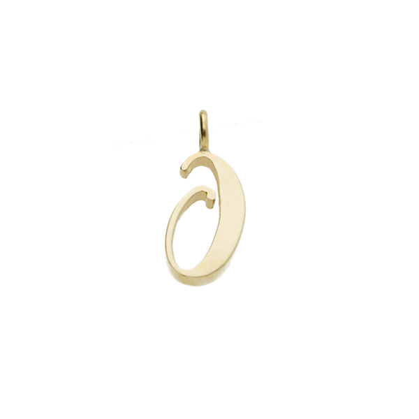 "EC One recycled Gold number ""0"" charm"